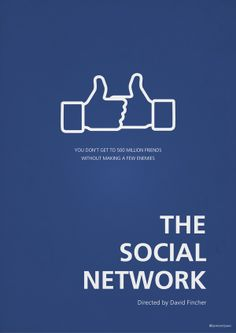 The Social Network [David Fincher, 2010] «Minimalist Posters Author: Tamer Elsawi»