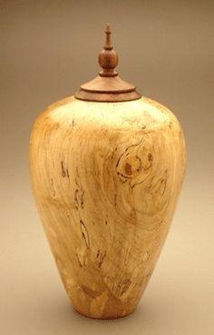 Eternal Heartwood Spalted Maple Wood Urn by Memorial Gallery