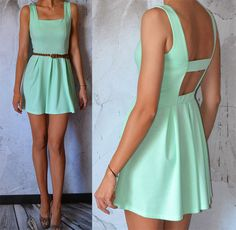 Mint Dress. make sweetheart neckline and no stripe across the back