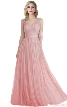 2016 New Blush Pink Flowing A Line Tulle Bridesmaid Dresses Convertible Long Plus Size Evening Gowns Maid Of Honor Cheap Gowns CPS230
