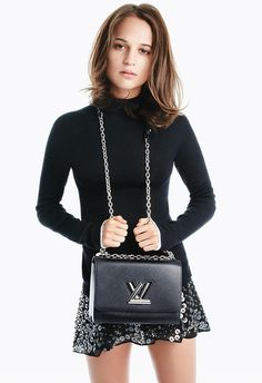 Fresh off her recent Oscar win, Alicia Vikander returns as the face of Louis Vuitton's new Twist handbag campaign. The Swedish actress sports knit sweaters and ruffled tops while posing next to the Twist bag's various versions in crocodile leather, lambskin and embroidered with braid work. A double strapped chain brings an edgy detail to …