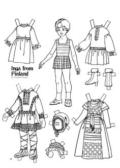 The Friend magazine Paper Doll_Finland