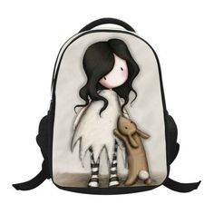 Lovely Cartoon Little Girl Printed Patterns Backpack Children School Bags Boys Backpacks Kids Kindergarten Bag Schoolbags BB79