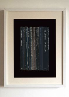 Joy Division Album as Books Print - Lime Lace- £21.95 This Joy Division Album as Books Print shows what may have been if they had decided to become writers instead of musicians for the album 'Unknown Pleasures'.