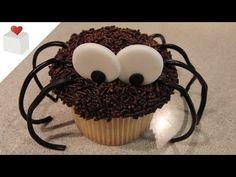 Cómo decorar un Cupcake Araña, ideal para Halloween   Trucos para Cupcakes por Azúcar con Amor