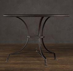 """40"""" 19th C. French Lion's Foot Brasserie Table"""
