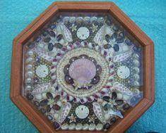 Sailors Valentine - Purple Passion - Seashell Shadow Box