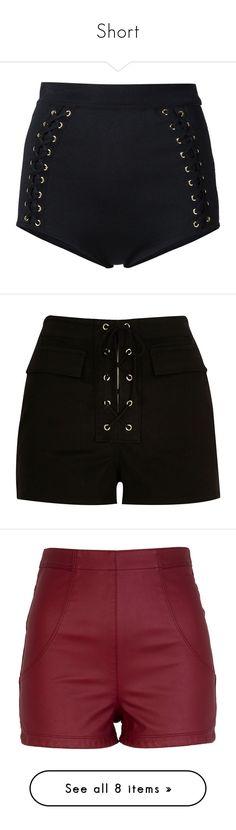 """Short"" by nathalie9500 ❤ liked on Polyvore featuring shorts, pants, bottoms, balmain, short, black, high-waisted shorts, high-rise shorts, high rise shorts and elastic waist shorts"
