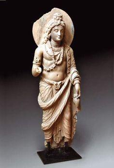 Art gréco-bouddhique du Gandhara Ier - Vè siècle H. : 120 cm.