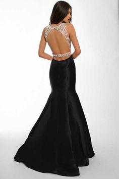 Sırtı Açık Klasik Elbise