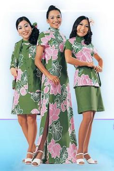 Vintage Hawaiian Airlines uniforms. Amazingly groovy.
