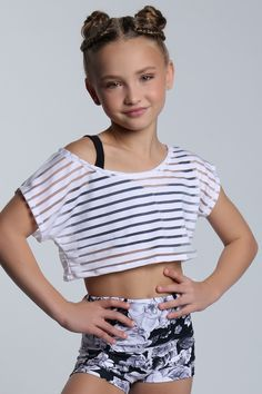 Stripe Tee and Black Rose High Waisted Short #sylviap #sylviapgymnastics #gymnastics #activewear #trainingwear #sportswear #athleticswear #love #inspo #train #friends #models #girls #sportswear #training #gymnast #leotard #leo #gym #design #pattern #unique #girl #buy #purchase #dance #dancewear #leggings #tights #yogapants
