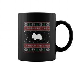 Japanese Chin Through The Snow  Coffee Mugs T-Shirts, Hoodies ==►► Click Image to Shopping NOW!