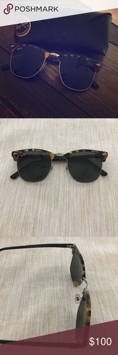 Rayban clubmaster RB3016 Rayban clubmaster in perfect conditions! Like new! Only a few times used. ray ban Accessories Sunglasses