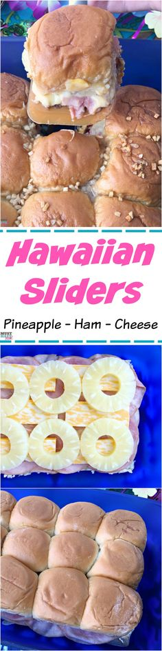 Easy Hawaiian Sliders recipe! Great party food idea or food for a crowd. We made these for our Moana party food.