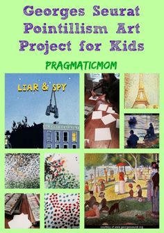 Georges Seurat Pointillism Art Project for Kids :: PragmaticMom