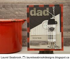 I am playing along with some masculine challenges once again . I have used the Jack paper pack from CTMH to create a Father's Day card. Close To My Heart, One In A Million, I Card, Fathers Day, Scrap, Challenges, Create, Paper, Cardmaking
