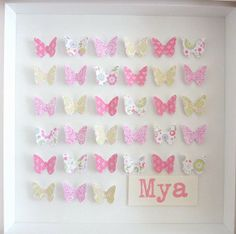 Kiss Me collection  Personalised butterfly art  by Pepperbuttons, $48.90