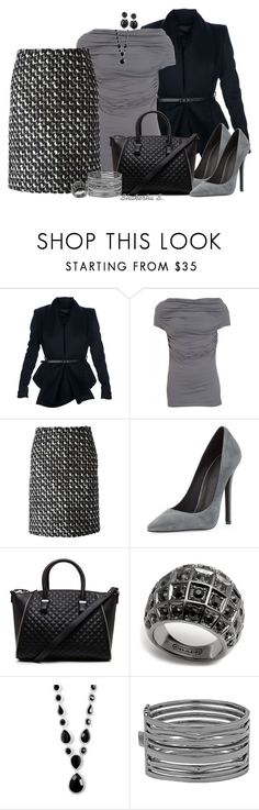 """""""Tweed Skirt"""" by shakerhaallen ❤ liked on Polyvore featuring Burberry, Farhi by Nicole Farhi, Lanvin, Jeffrey Campbell, 2b bebe, Coach, Nine West and BCBGMAXAZRIA"""