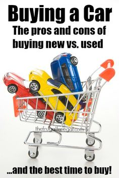 Thinking of buy a new or used car soon? Wait! Before your next major vehicle purchase, read the pros and cons of buying new vs. used and find out when the best time to buy is!