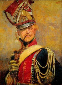 Edouard Detaille – Polski Szwoleżer-Lansjer Gwardii Cesarskiej z fajką