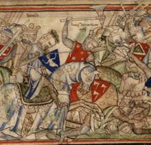 The Battle of Stamford Bridge was won by Saxon forces led by King Harold II. The invading army of Harold Hardrada and rebels led by Earl Tostig were routed. The Battle saw the end of the immediate Viking threat to the throne.