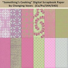 12 Digital Scrapbook Paper Pack Something's by ChangingVases