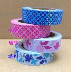 4 Rolls Japanese Washi Tape Masking Tape decoration Tape 10m. $11.00, via Etsy.