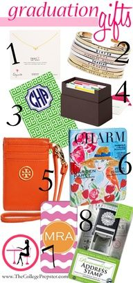 We love the College Prepster! This bloggers picks for graduation gifts.