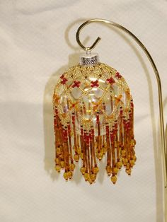 Beaded Christmas Ornament Cover