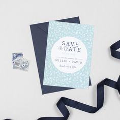 Botanical Alice wedding save the date cards by Project Pretty Design Suites, Botanical Wedding, Kraft Envelopes, Save The Date Cards, Wedding Stationery, Swatch, Floral Design, Wedding Planning, Alice