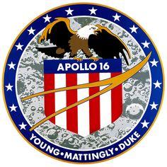 Los Parches de las misiones Apolo: Apolo 16
