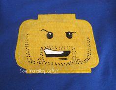 Lego -Lego head t-shirts DIY