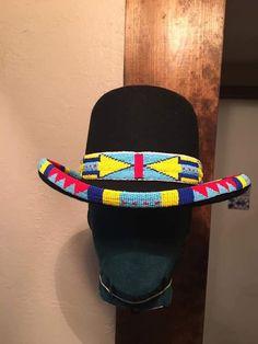 Native Beadwork, Native American Beadwork, Native Style, Native Art, Seed Bead Art, Beaded Hat Bands, Indian Skull, Native American Baskets, Sinamay Hats