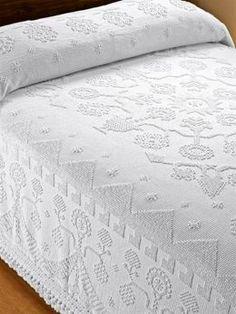 Cotton Bedspreads |Hobnail Just like Grandma's