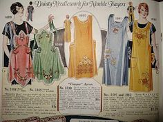 *This is the style I remember seeing my great grandma in. I want to make them ! aprons
