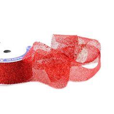 Nastri decorativi - Nastro Glitter Rete Rosso mm 15 metri 15 - un prodotto unico di raffasupplies su DaWanda