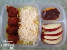 mommy + me lunch box: chicken meatballs