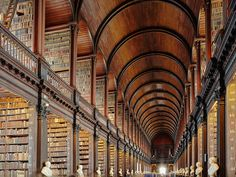 Dublin's Trinity College houses the famous Book of Kells, a ninth-century manuscript penned by monks in amazingly intricate fonts and illustrations—each page is like its own work of art. When you're done perusing, pay a visit to the library's Long Room; staring down the 200-foot-long hallway stacked with 200,000 old books might just give you chills.