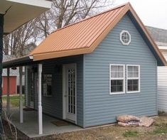 Ocean Blue Metal Roof House Siding Ideas Metal Roof