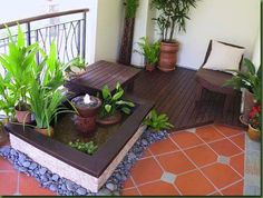 6 Refreshing Hacks: Backyard Garden Landscape Solar Lights backyard garden shed garage.Backyard Garden Layout Seating Areas backyard garden boxes how to build. Small Balcony Decor, Small Balcony Design, Small Terrace, Small Backyard Gardens, Terrace Garden, Balcony Ideas, Small Patio, Modern Balcony, Balcony Gardening