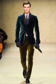 Burberry Prorsum Fall 2012 - Rich Colours Navy & Green. Men's Style.