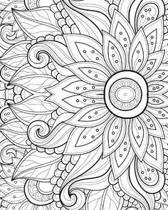 15 CRAZY Busy Coloring Pages for Adults Page 6 of 16 Crazy
