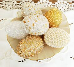 Sofreh Aghd : 6 Hand Beaded Gold White and by ChicWeddingBoutique