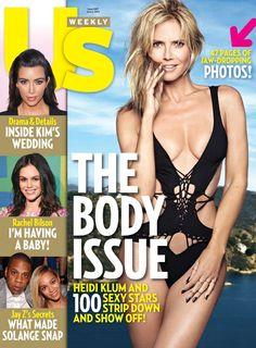 Us Weekly Magazine Heidi Klum Body Issue Kim Kardashian Rachel Bilson Beyonce Teen Models, Young Models, Heidi Klum Bikini, Beach Bodys, Magazin Covers, Body Issues, Star Wars, Rachel Bilson, Stay In Shape