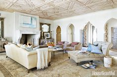Arches for living room- KB. A Designer's Take on Making New Look (Stylishly) Old - HouseBeautiful.com
