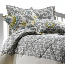 Natural/Gray Metro Bedding with Matching Pillow Sham
