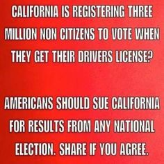 """California's votes should not be counted. They should not be allowed to participate in anything that affects anything other than what is within their """"borders""""...bwahahahaha!!!!"""