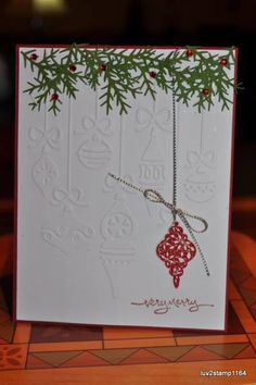 Tree Trimmings embossed ornament