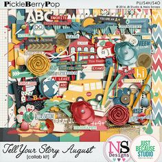 Tell Your Story - August By JB Studio & Neia Scraps